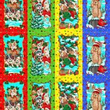 Вафельная -универсал В16 (0741/1) С праздником (4 купона - красный, зеленый, желтый, синий), ширина 150см