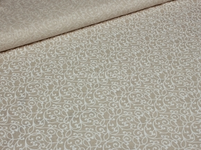Ткань бельевая арт 2-21 п/лен кислованный рис. Вензель белый, 150см