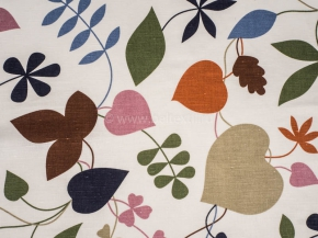 Ткань интерьерная арт. 176099 п/лен отб набивной рис.1207/1 Листва, ширина 150см