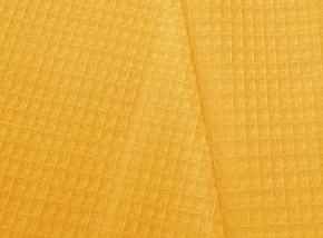 15с169/150 Вафельное полотно гл/кр крупная клетка 7*7 вес-230г/м2~9 желтый, 150см