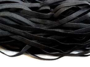 Резинка вязаная 8мм, черный (рул.100м)