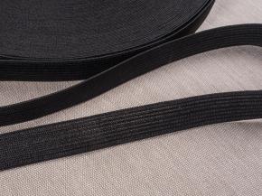 Резинка вязаная 15мм, черный (рул.40м)