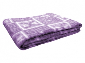 Одеяло п/шерсть 50% 140*205 жаккард цвет сиреневый
