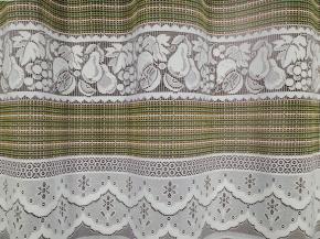 1.65м 2С4-Г10 ЦВН рис.1243 полотно гардинное цв. желто-зеленая нить
