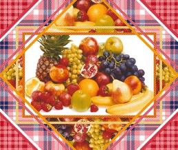 """Полотно вафельное набивное грунт """"Фрукты"""" рисунок  19380-1, ширина 50см"""