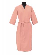 Халат вафельный женский р-р.48 цвет персик