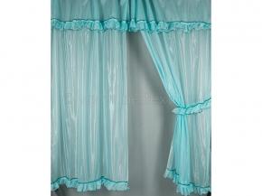 6С48-Г10 комплект штор (200*150)-2 + ламбрекен 50*300 цв. голубой