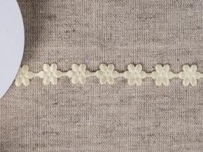 095030053 Лента декоративная шир.12мм, сливочный цветы (уп.25ярдов/22,86м)