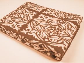 Одеяло хлопковое 140*205 жаккард 1/9, 16/5 цвет коричневый