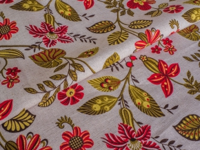 Ткань бельевая арт 175448 п/л п/вар 150 см рис 5408/3 Цветочное настроение красный
