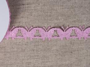 095030355 Лента декоративная шир.20мм, бабочки розовый (уп.25ярдов/22,86м)