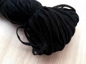 .4мм. Резинка вязаная 4мм, черный (рул.100м) арт.04С2220