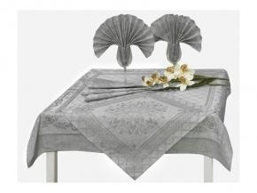 17с384-ШР / уп Комплект столовый Амулет 100х100 +4 салфетки 48*48 цвет 106 серый