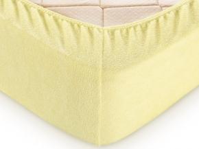 Простыня Махровая на резинке 90*200*30 цв. желтый