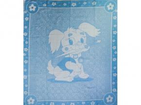 Одеяло хлопковое 100*118 жаккард 02/10 цв.голубой