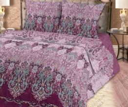 Поплин набивной рисунок 0759/3 Тайны Персии фиолетовый ширина 220см