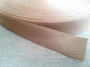 Тесьма вязан.окантовочная 22мм (2,4г/м), бежевый (рул.100м)