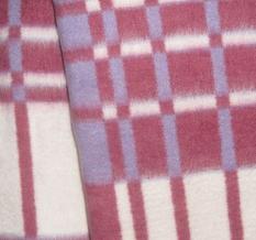 Одеяло хлопковое 170*205 клетка 12/17 цвет цикламен