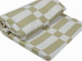 Одеяло байковое в/уп.140*205 клетка цв. бежевый