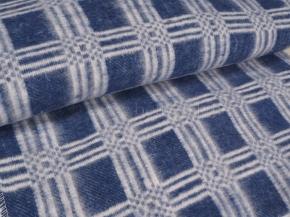 Одеяло хлопковое ОБ-420 140*205 клетка цв. синий
