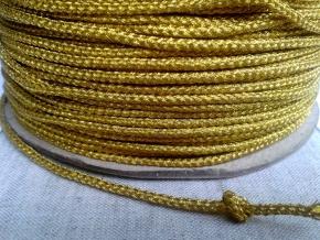 08С2396-Г50 ШНУР ОТДЕЛОЧНЫЙ желтый с золот. 3мм (рул.100м)