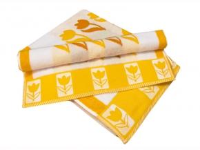 """10с59 полотенце махровое 70*140 """"Тюльпан"""" цвет оранжевый"""