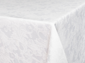 Ткань скатертная арт14С7SHT Мирелла рисунок 004 цвет 010101 белый, ширина 310 см