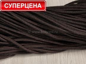 5мм. 01С2119-Г50 ШНУР ОБУВНОЙ без наполнителя, черный с коричневым 5мм (рул.100м)