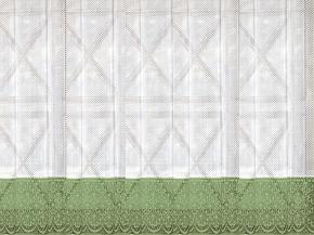 м444А ЗАНАВЕСКА белый с оливковым 2.75 м*1.45 м