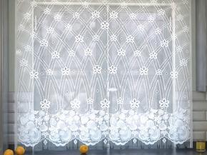 09С6295-Г50 ЗАНАВЕСКА ДЛЯ КУХНИ белый 1.60*1.70м