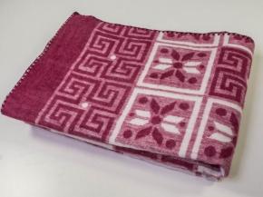 Одеяло п/шерсть 50% 140*205 жаккард цв.бордо