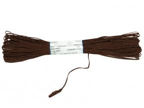 1С13-Г50 ШНУР ОТДЕЛОЧНЫЙ (сутаж) коричневый*007, d-1.8мм (рул.20м)