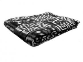 Одеяло полушерсть 50% 170*205  жаккард  цвет  темно-серый