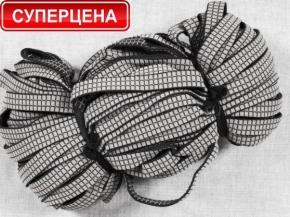 19мм. 4574Л ЛЕНТА ЭЛАСТИЧНАЯ ПОМОЧНАЯ черный/белый 19мм (рул.50м)
