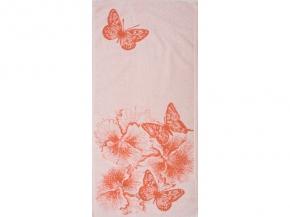 6с104.413ж1 Бабочки и цветы Полотенце махровое 81х40см