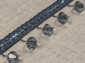 Бахрома Ajur HK AT917CY-1058 (25m) морск.волна с бусинами