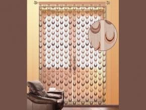 11С6469-Г50 ШТОРА коричневый с бежевым 2.50*1.55м