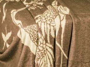 Плед хлопковый 170*200 жаккард 32/9 коричневый