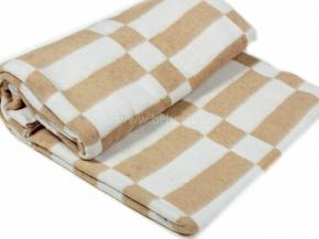 Одеяло байковое 175*210 клетка цв. бежевый