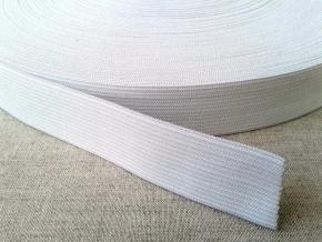 Резинка вязаная 25мм, белая (рул.50м)