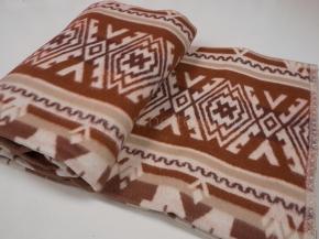 Одеяло хлопковое 140*205 жаккард  37/01 37/17 цв.коричневый