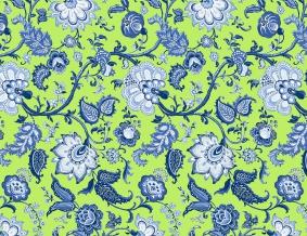 Ткань сувенирная рогожка набивная рисунок Узор 561/2 салатовый ширина 150 см