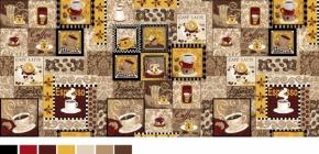 """Набор для кухни Рогожка """"Кофейное изобилие"""" из 4-х предметов (фартук+ рукавица+ прихватка+ полотенце)"""