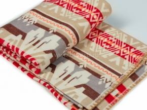 Одеяло хлопковое 200*205 жаккард  37/15  цв.красный