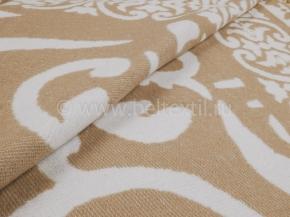 Одеяло хлопковое 140*205 жаккард 3/15 Завиток цвет коричневый