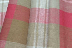 15с344-ШР Наволочка верхняя 70*70 цв 1 рис 4 клетка серый с розовый