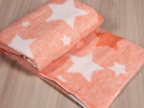 Одеяло хлопковое 100*118  жаккард   цв.оранжевый