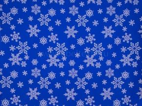 Ткань арт 186055 п/лен отб. наб рис 10-16/2 Кружевные снежинки на синем, ширина 150см