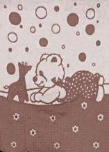 Одеяло хлопковое 100*140 жаккард Эконом шоколад