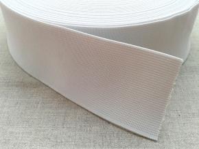 Резинка вязаная 50мм, белая (рул.50м)